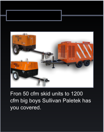 Fron 50 cfm skid units to 1200  cfm big boys Sullivan Paletek has  you covered.